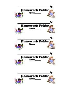 Labels for Homework Folders ...DIY