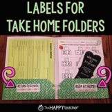 Labels for Homework Folders / Take Home Folders {FREE!}