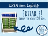 Labels for IKEA Bins (Editable)!!!!