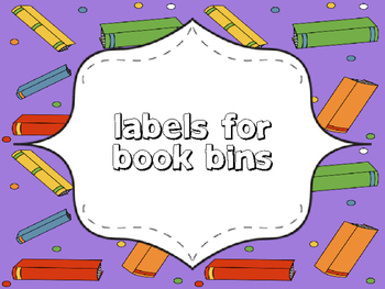 Labels for Library Book Bins!
