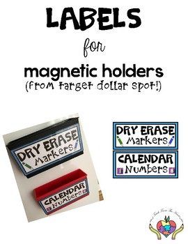 Labels for Magnetic Holders FREEBIE
