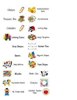 Labels for Manipulatives and much more. Avery 5160