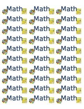 Labels for Math Binder or Notebook