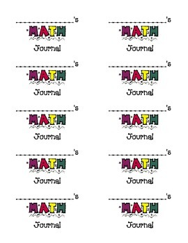Labels for Math Journals