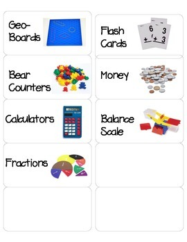 Labels for Math Manipulatives