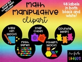 Black and White Labels for Math Manipulatives