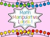Labels for Math Manipulatives Bins