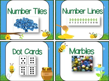 Labels for Math Tools: 52 Labels with Photographs {Busy Bees Theme}