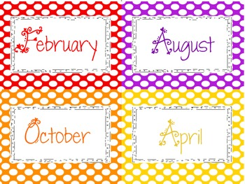 FREEBIE  Labels for Months of the Year + classroom labels
