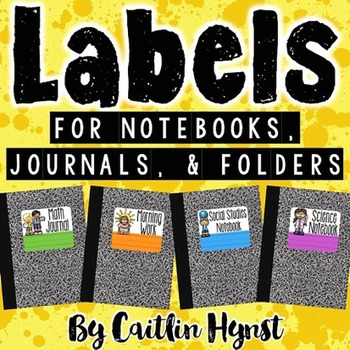 Labels for Notebooks, Journals, and Folders