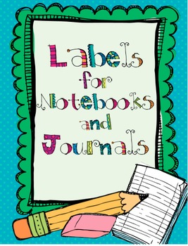 Labels for Notebooks and Journals