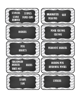 Labels for Organisation and Drawers