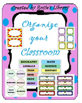 Back to School Labels for Organizing the Classroom