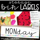 Labels for Paper Storage Bin Drawers