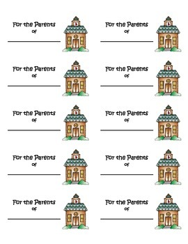 Labels for Parent Packets/Open House