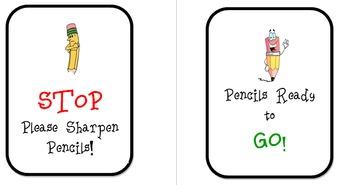 Labels for Pencil Bin