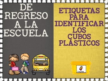 Labels for Plastic Bins in Spanish and English
