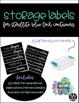 Labels for Plastic Organizers