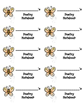 Labels for Poetry Notebooks