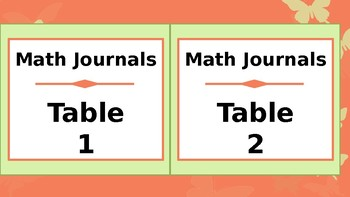 Labels for Student Journals Storage - By Subject - Coral Butterfly Theme