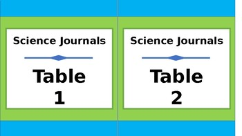 Labels for Student Journals Storage - By Subject - Tall - Lime & Teal