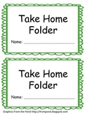 Labels for Take Home Folder