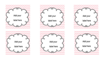 Labels for Target Adhesive Pockets