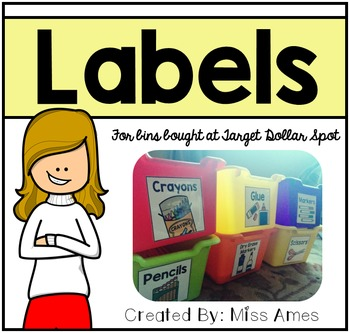 Labels for Target Dollar Spot Bins