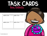 Labels for Task Cards (reading, writing, math, test prep) *FREE*