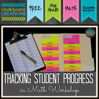 Labels for Tracking Student Progress during Math Workshop (or Any Time!)
