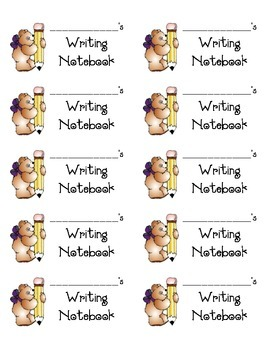 Labels for Writing Notebooks