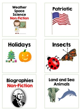 Labels for a classroom library