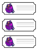 Labels for lockers or Cubbies