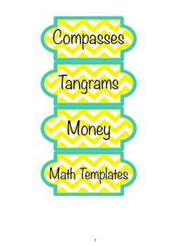 Labels for math equipment