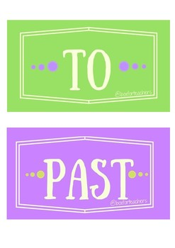 Labels for telling the time (Past - To)