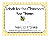 Labels for the Classroom: Bee Theme