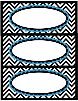 Labels for the Classroom - Black and White Chevron - Editable