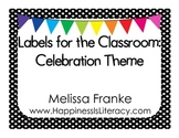 Labels for the Classroom: Celebration Theme