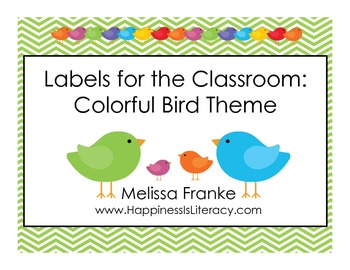 Labels for the Classroom: Colorful Bird Theme