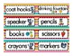 Labels for the Classroom: Cool Cat Theme