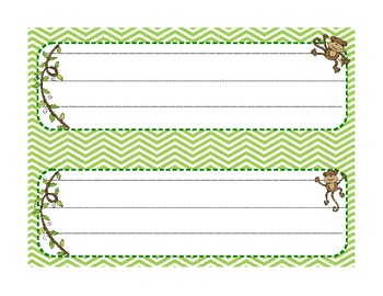 Labels for the Classroom: Monkey Theme