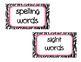 Labels for the Classroom Zebra and Jungle Theme