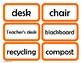 Labels for the English / ESL Classroom (Orange)