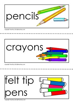 Labels for the Preschool or School