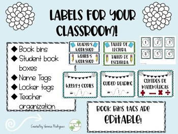 Labels for your Classroom (EDITABLE)