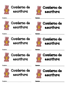 Labels in Spanish for Notebooks and Folders (Rótulos)