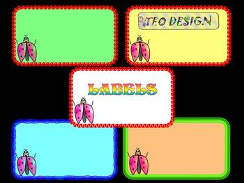 Ladybug Labels - Clipart - Activities - Personal or Commercial Use