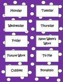 Labels to Organize Paperwork - Purple