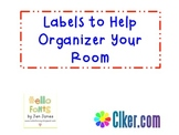 Labels to Organize Your Classroom