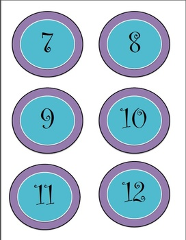 Labels with numbers